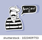 "paris man saying ""good day"" in... 