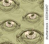 eye seamless | Shutterstock .eps vector #102341047
