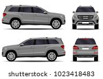 big car. front view  side view  ... | Shutterstock .eps vector #1023418483