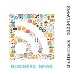 business icons are grouped in... | Shutterstock .eps vector #1023419443