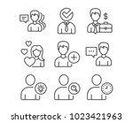 set of love  businessman case... | Shutterstock .eps vector #1023421963