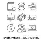 set of usd currency  tablet pc