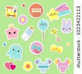 baby stickers. kids  children... | Shutterstock .eps vector #1023422113