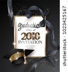 graduation 2018 party... | Shutterstock .eps vector #1023425167