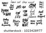 motivational quote  ink...   Shutterstock .eps vector #1023428977