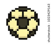 football icon  soccerball pixel ...