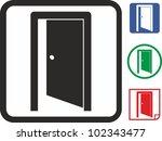 door vector icon   Shutterstock .eps vector #102343477