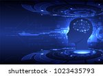 artificial intelligence ... | Shutterstock .eps vector #1023435793