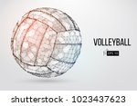 silhouette of a volleyball ball.... | Shutterstock .eps vector #1023437623
