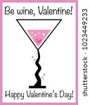 be wine valentine | Shutterstock .eps vector #1023449233