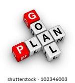goal plan | Shutterstock . vector #102346003
