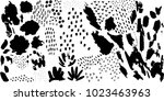 abstract creative header and... | Shutterstock .eps vector #1023463963