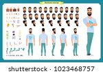 hipster creation kit. set of... | Shutterstock .eps vector #1023468757