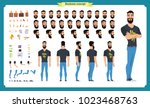 hipster creation kit. set of... | Shutterstock .eps vector #1023468763