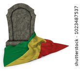 Gravestone And Flag Of The...