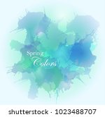 grunge watercolor background... | Shutterstock .eps vector #1023488707