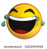 lol emoji. laughing face with... | Shutterstock . vector #1023494443