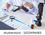 criminologist police chemist...   Shutterstock . vector #1023496483