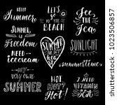 summer hand drawn lettering... | Shutterstock .eps vector #1023506857