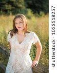 one caucasian high school...   Shutterstock . vector #1023518257