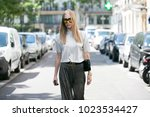 paris july 6  2016. street... | Shutterstock . vector #1023534427