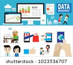 data management  data center ... | Shutterstock .eps vector #1023536707