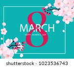 8 march the international ... | Shutterstock .eps vector #1023536743