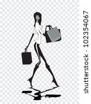 shopping woman | Shutterstock .eps vector #102354067