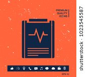 electrocardiogram symbol icon   Shutterstock .eps vector #1023545587