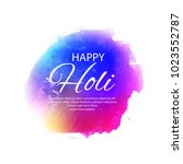 illustration of colorful happy... | Shutterstock .eps vector #1023552787