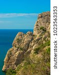 beautiful summer sea landscape...   Shutterstock . vector #1023563353