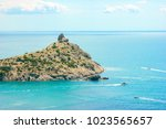 beautiful summer sea landscape...   Shutterstock . vector #1023565657
