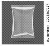 transparent pillow bag. vector...   Shutterstock .eps vector #1023567217
