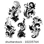 floral ornaments | Shutterstock .eps vector #10235764