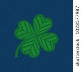 green shamrock or clover... | Shutterstock . vector #1023577987