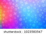 light blue  red vector...   Shutterstock .eps vector #1023583567