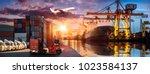 logistics and transportation of ...   Shutterstock . vector #1023584137