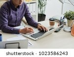 cropped image engineer using...   Shutterstock . vector #1023586243
