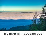 early morning haze in the... | Shutterstock . vector #1023586903