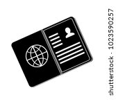 vector passport icon | Shutterstock .eps vector #1023590257