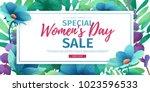 horizontal banner for sale... | Shutterstock .eps vector #1023596533