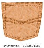 yellow jeans back pocket... | Shutterstock . vector #1023601183