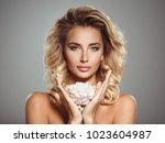 photo of a beautiful  blond... | Shutterstock . vector #1023604987