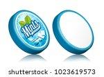 mints gum package design ...   Shutterstock .eps vector #1023619573