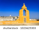 detail of the circular bastion  ... | Shutterstock . vector #1023625303