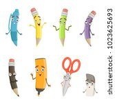 cartoon characters of different ... | Shutterstock .eps vector #1023625693