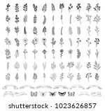 bloom collection. set of hand... | Shutterstock .eps vector #1023626857