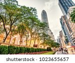 new york   may 17  tourists... | Shutterstock . vector #1023655657