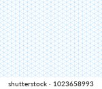 seamless isometric blue grid... | Shutterstock . vector #1023658993