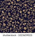 vintage floral pattern. rich... | Shutterstock . vector #1023659023
